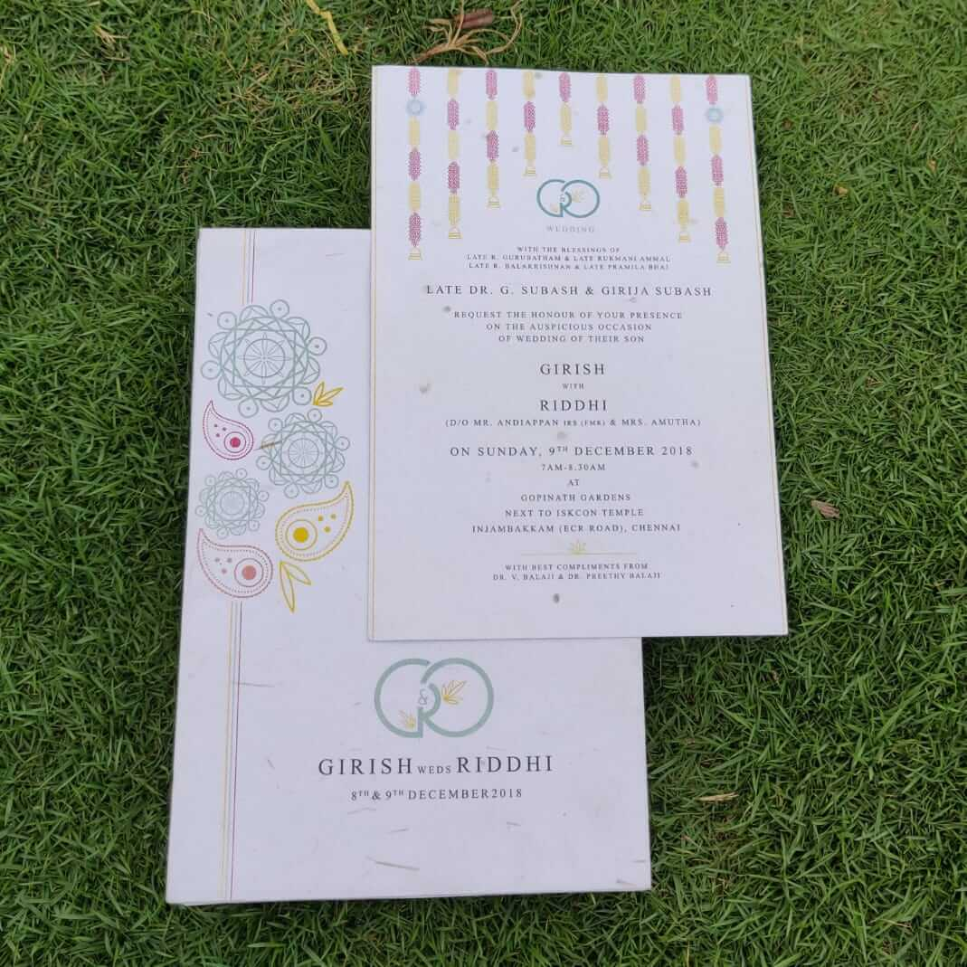 Cheap Wedding Invites.Eco Friendly Plantable Seed Paper Wedding Invitation Card Temple Flowers